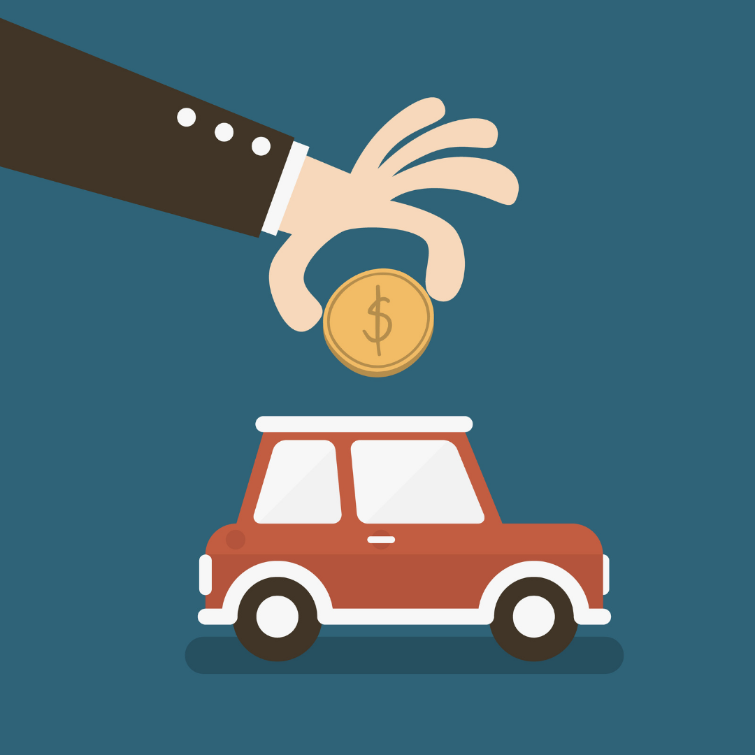 Image-of-a-person-dropping-a-coin-into-a-car-shaped-piggy-bank