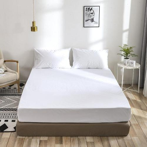 Deals For Less - 3 Pieces  fitted sheet  King Size, Plain White Color, Bedsheet Set