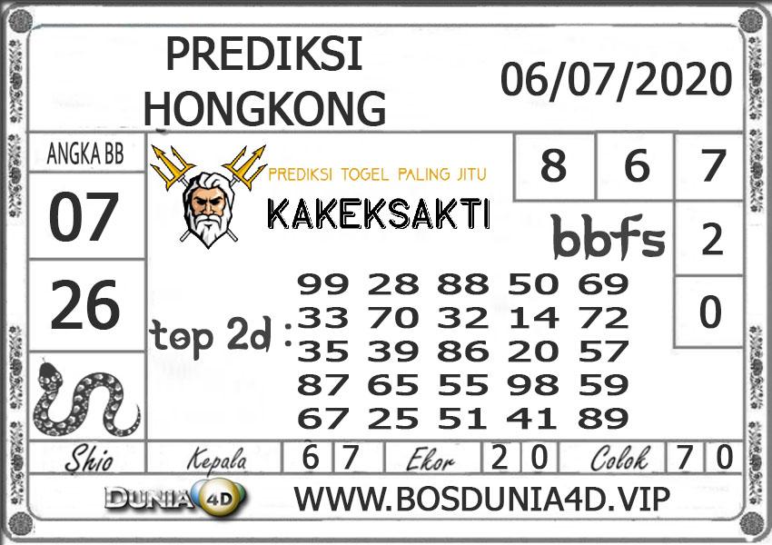 Prediksi Togel HONGKONG DUNIA4D 06 JULI 2020