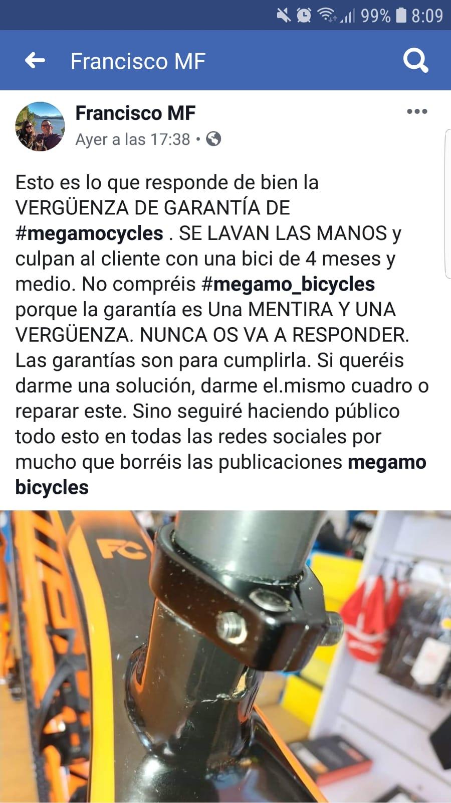 TNT Circles MEGAMO deja de fabricar bicicletas. .