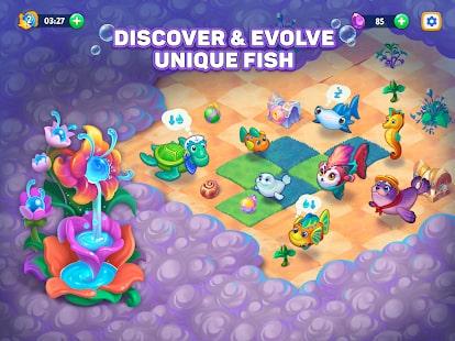 Sea Merge Fish Games in Aquarium & Ocean Puzzle 9