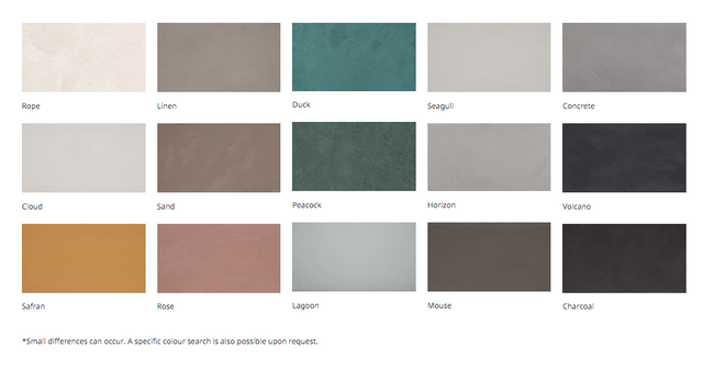 ERNEST has developed a range of about fifteen colours from natural pigments that do not change with time or light.