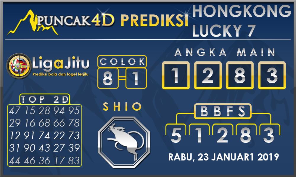 Prediksi Togel HONGKONG LUCKY7 PUNCAK4D 23 JANUARI 2019