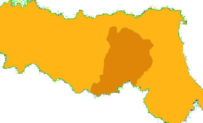 Bologna in arancione scuro