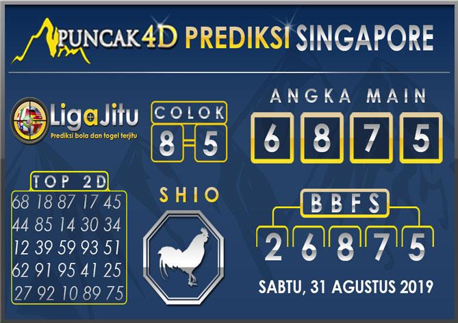 PREDIKSI TOGEL SINGAPORE PUNCAK4D 31 AGUSTUS 2019