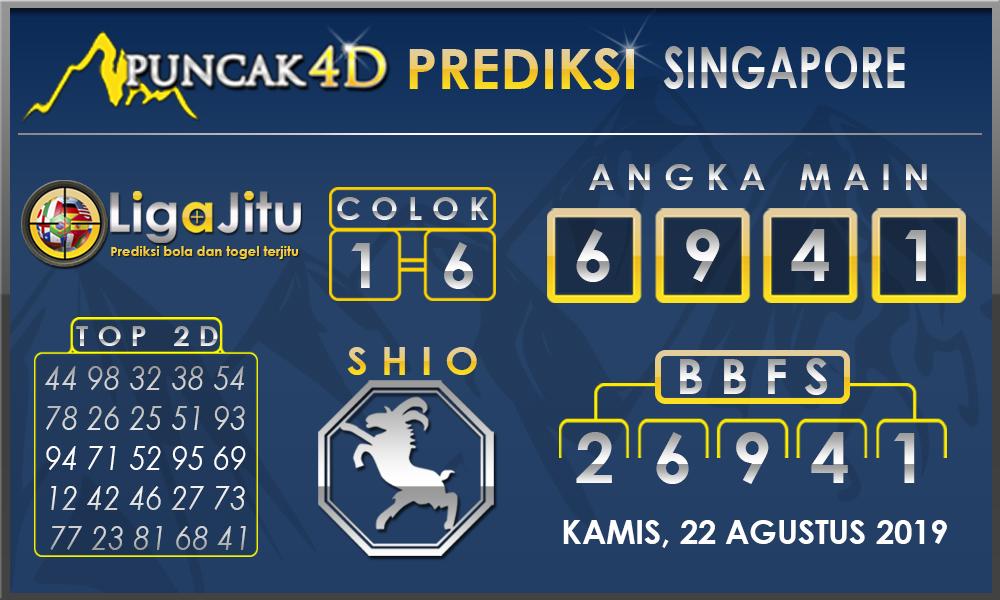 PREDIKSI TOGEL SINGAPORE PUNCAK4D 22 AGUSTUS 2019