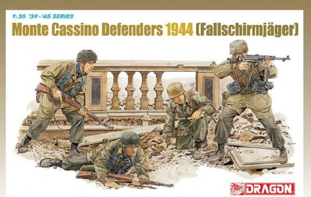 Fallschirmjägers et Sd.Kfz. - Combats de Berlin - 1945 Monte-cassino-defenders-1944-fallschirmjager-dragon