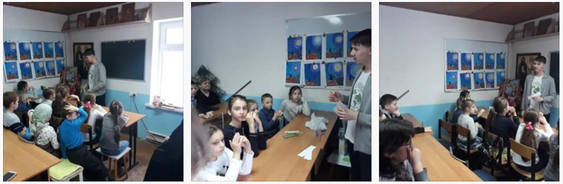 23 февраля в воскресной школе Спасского храма Солнечногорска прошёл экологический урок на тему Экологическая безопасность. Что я могу. На занятии ребятам было рассказано о возможностях минимизации причинения ущерба окружающей среде, экономии ресурсов