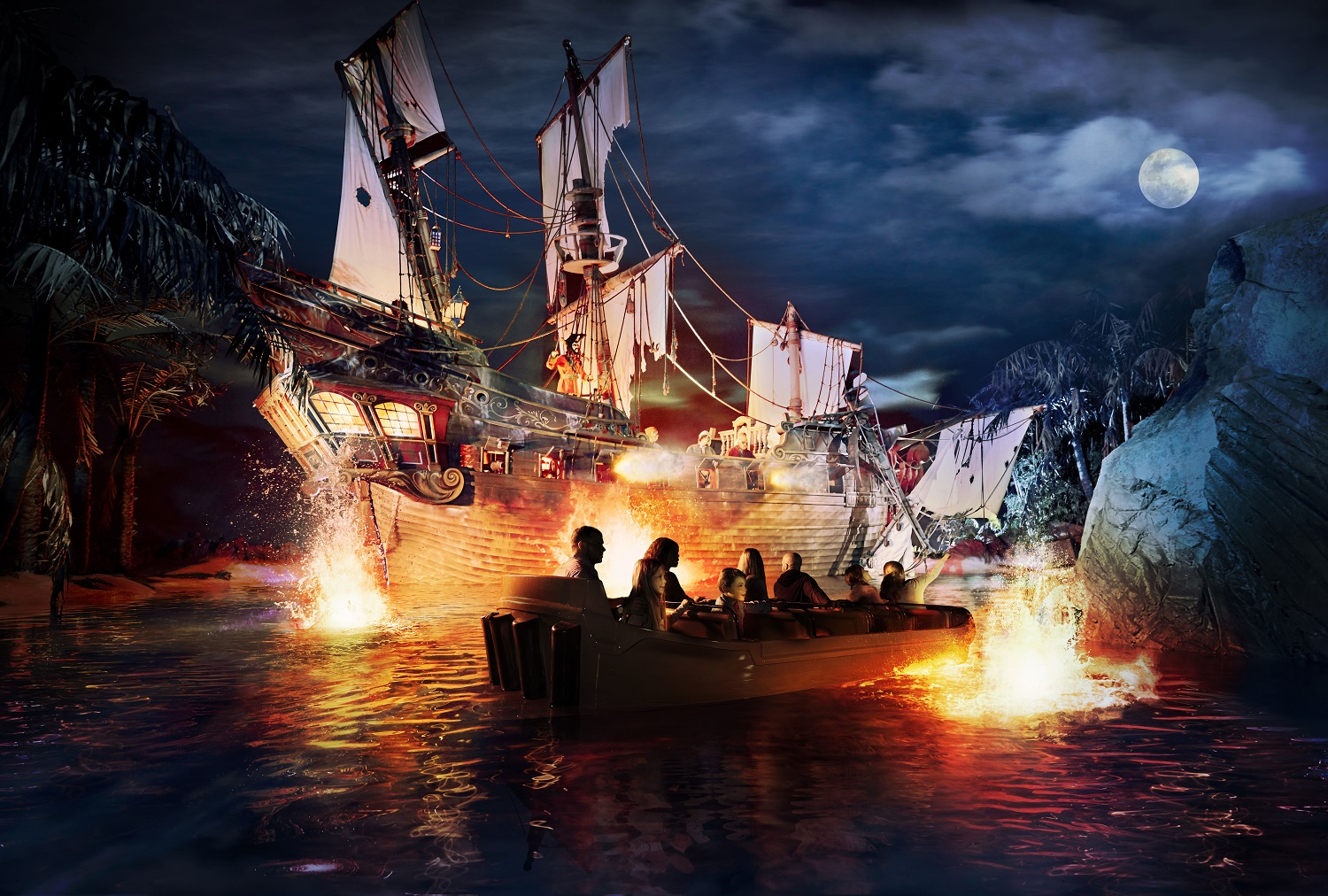 Pirates of the Caribbean ride at Disneyland Paris