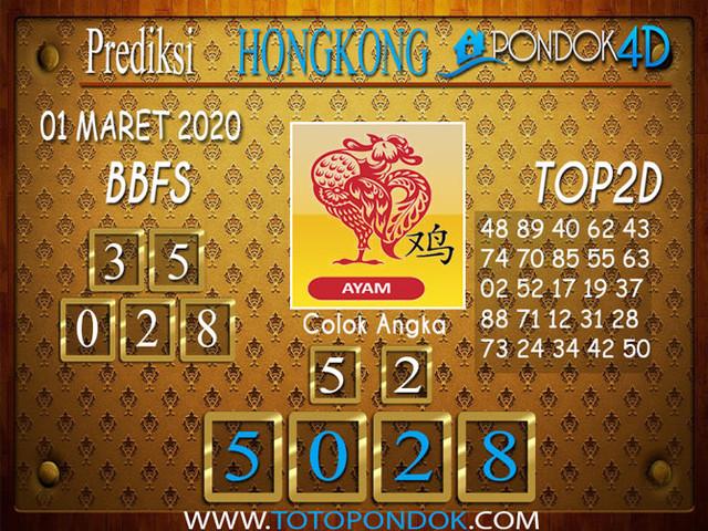 Prediksi Togel HONGKONG PONDOK4D 01 MARET 2020