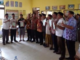Foto Bersama Bupati, Kepala BPN dan juga Camat