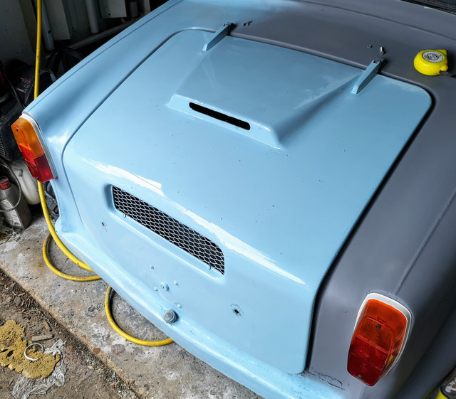 1973 AC Model 70 Engine Cover Refitted After Painting.jpg