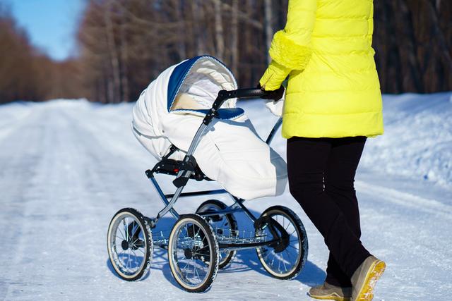Зимова прогулянка з новонародженим