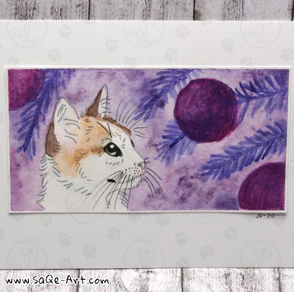 Purple cat - SaQe-Art.com