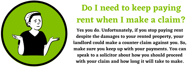 Damages to rented property for claims
