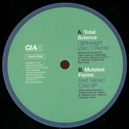 Total Science / Mutated Forms - Lightweight (Remix) / Best Served Cold VIP