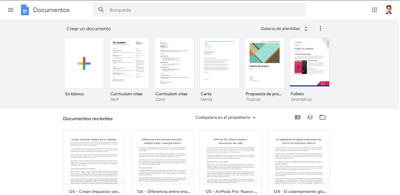 Google Docs, one of the most used editing services