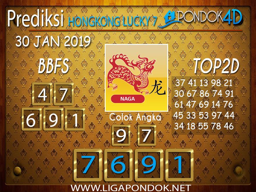 Prediksi Togel HONGKONG LUCKY7 PONDOK4D 30 JANUARI 2019