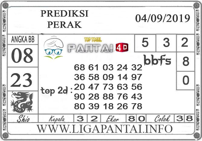 """PREDIKSI TOGEL """"PERAK"""" PANTAI4D 04 SEPTEMBER 2019"""