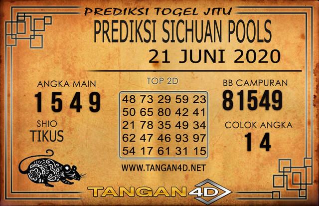 PREDIKSI TOGEL SICHUAN TANGAN4D 21 JUNI 2020