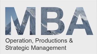 MBA-Operation Productions and Strategic Management