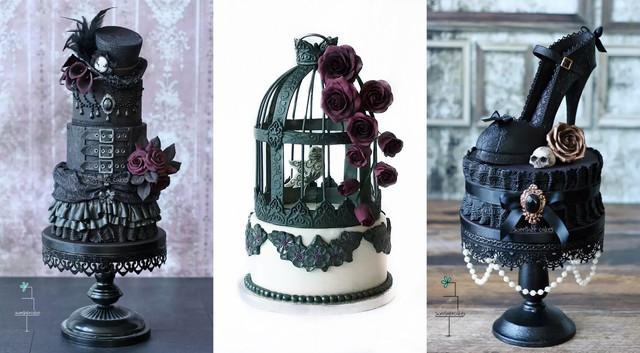 halloween-wedding-ideas-goth-cakes2