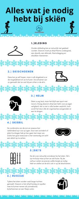 Infographic Alles wat je nodig hebt bij ski n