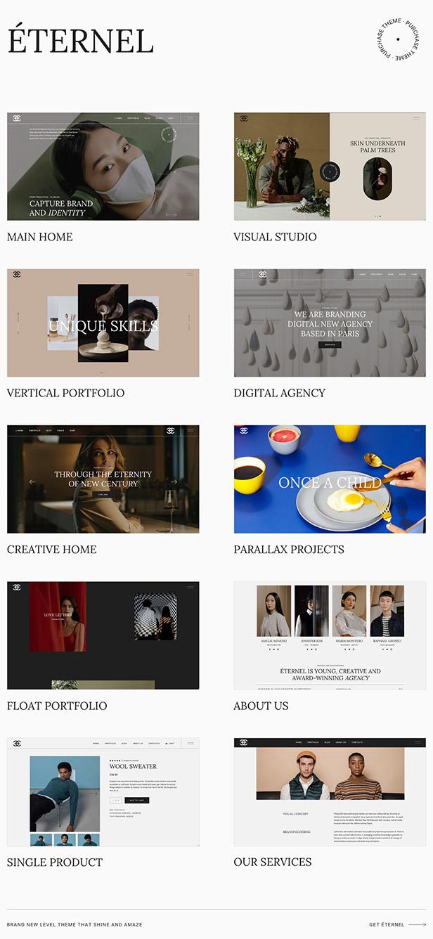 Eternel - Creative Portfolio WordPress Theme