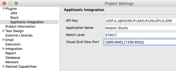 Applitools Integration
