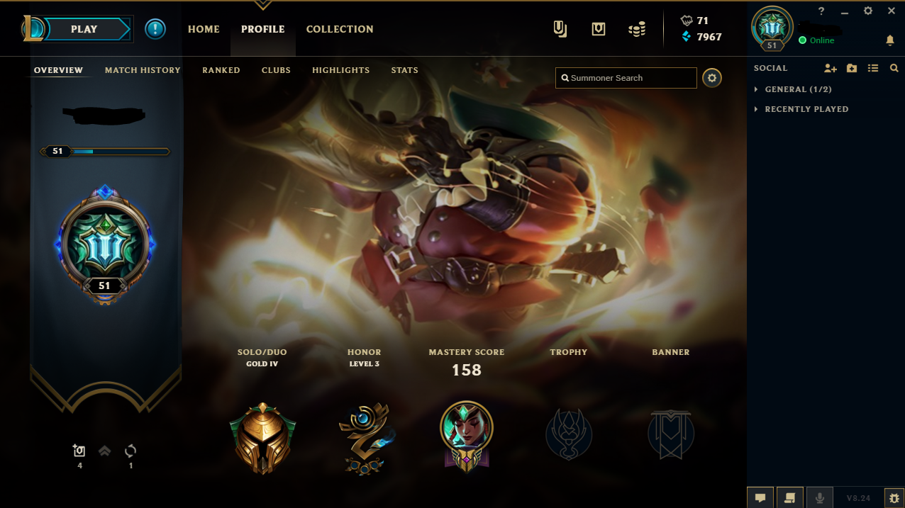 Selling - EU West - Gold - Level 30+ - EUW Account Level 51