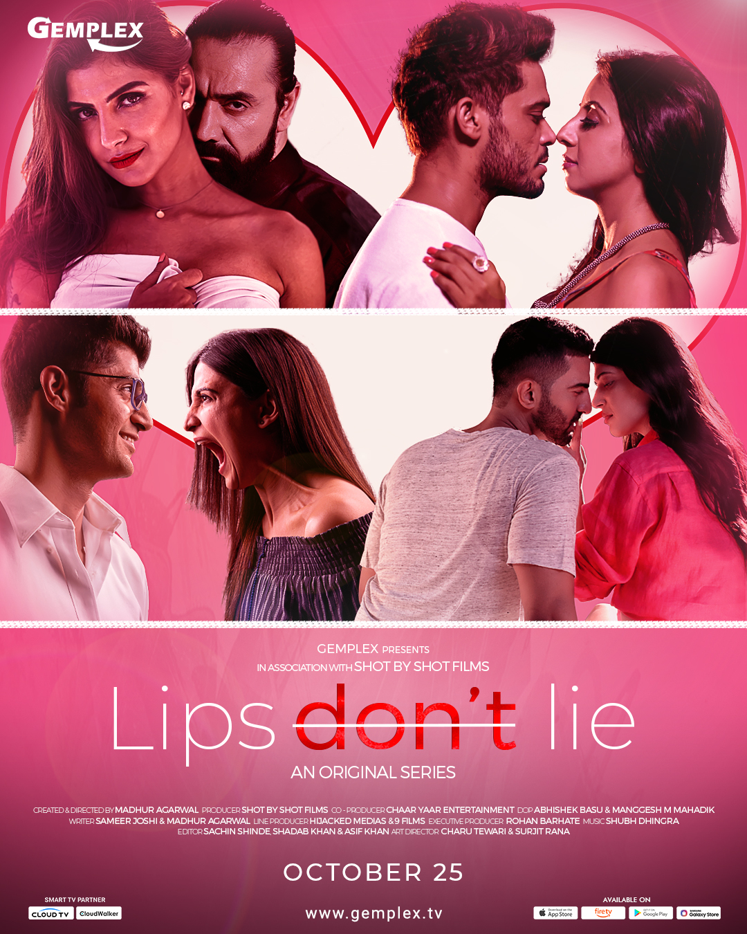 18+ Lips Don't Lie 2020 S01 Hindi Complete Gemplex Original Web Series 720p HDRip 900MB | 400MB Watch Online