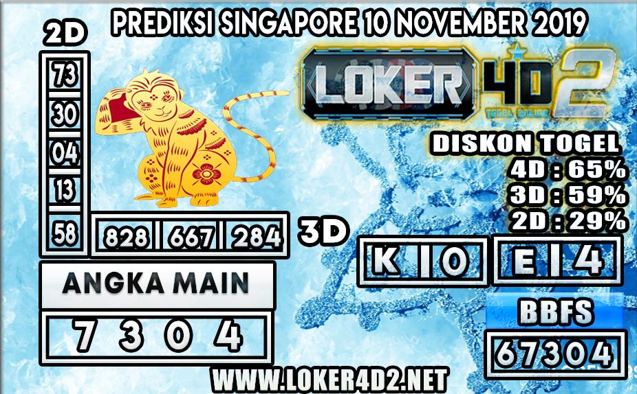 PREDIKSI TOGEL SINGAPORE LOKER4D2 10 NOVEMBER 2019