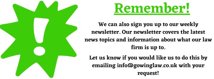 weekly newsletter help