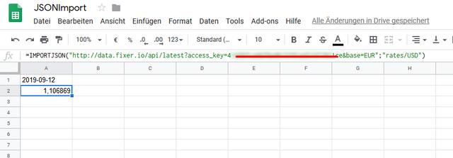 JSONImport-Google-Tabellen