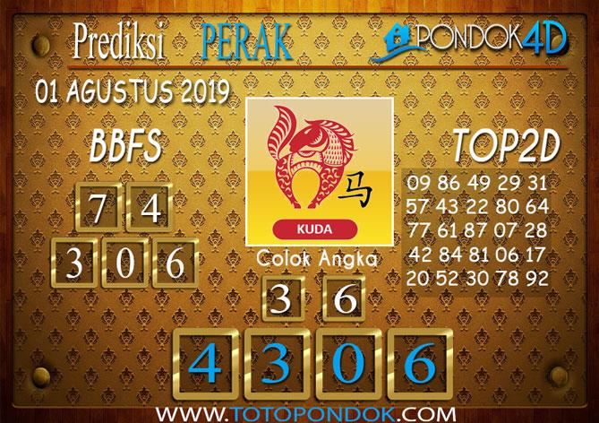 Prediksi Togel PERAK POOLS PONDOK4D 01 AGUSTUS 2019