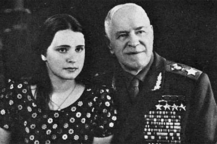 Georgy Zhukov and his daughter Maria.