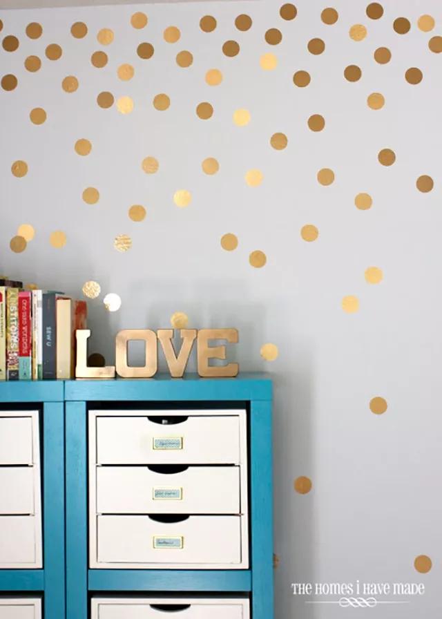горошек окраска стен в квартире