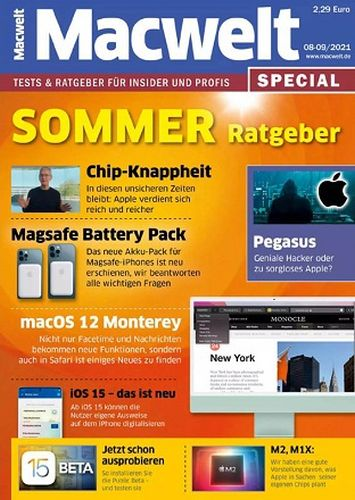 Cover: Macwelt Special Magazin No 08-09 August 2021