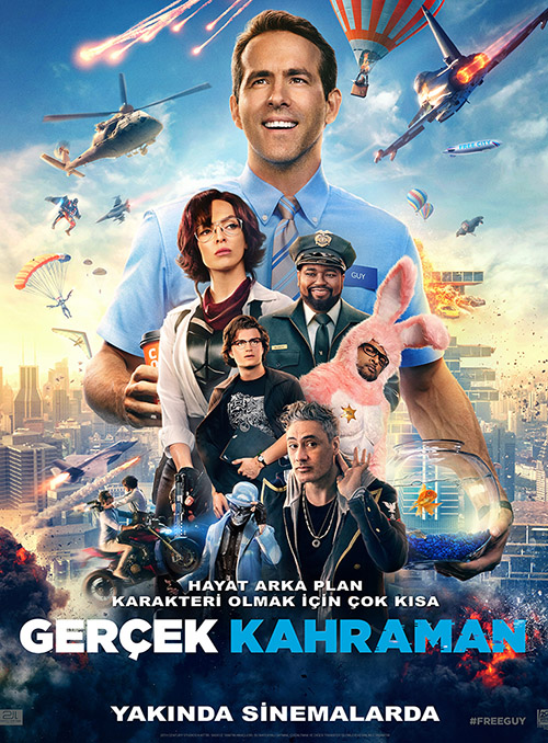 Gerçek Kahraman | Free Guy | 2021 | BDRip | XviD | Türkçe Altyazılı | 1080p - m720p - m1080p | BluRay | Tek Link