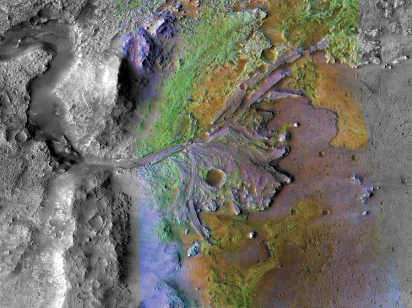 La NASA prevede di sbarcare il Rover Perseverance nel cratere di Jezero.