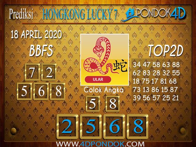 Prediksi Togel HONGKONG LUCKY 7 PONDOK4D 18 APRIL 2020