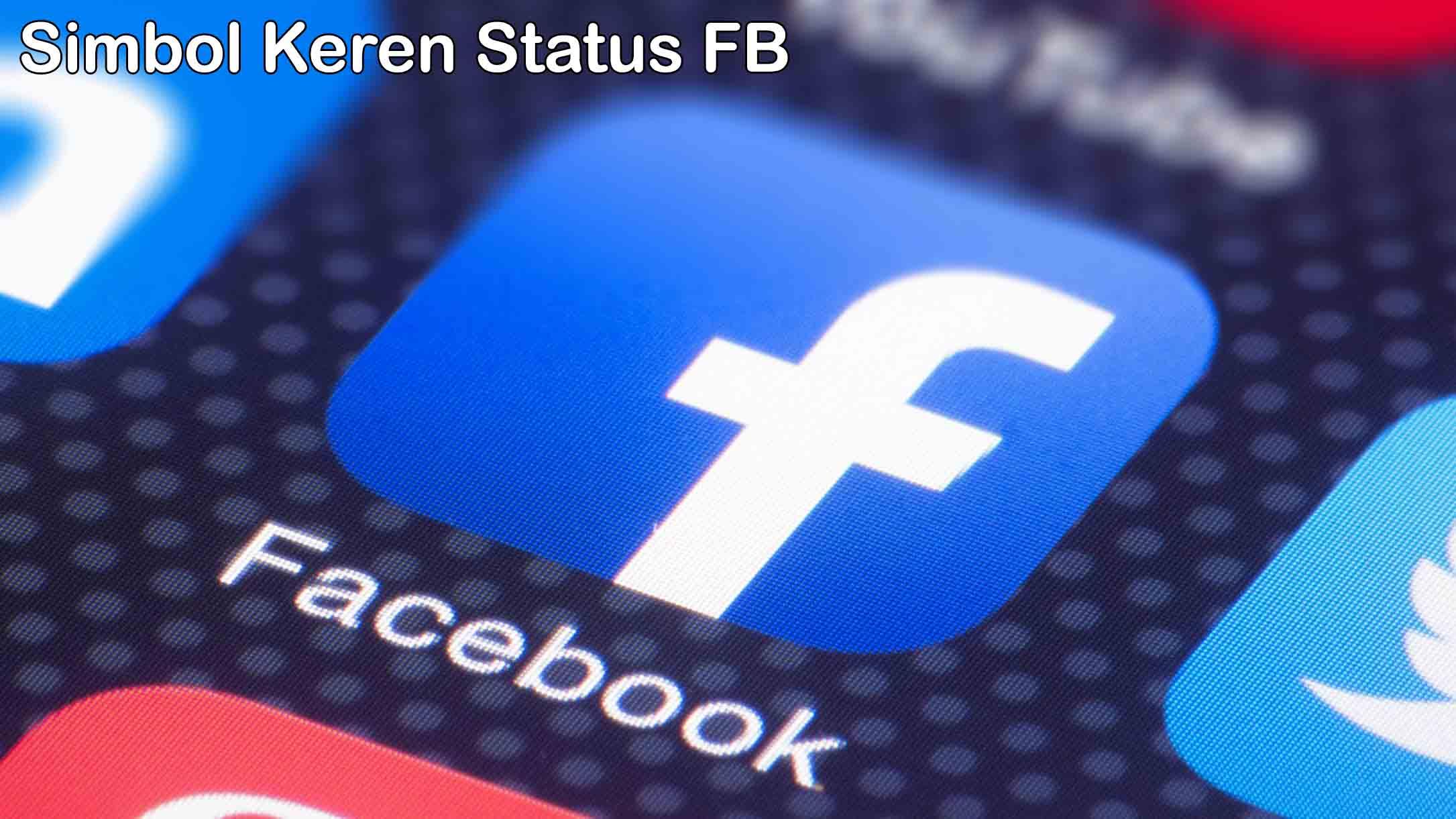 Simbol Keren Status Facebook