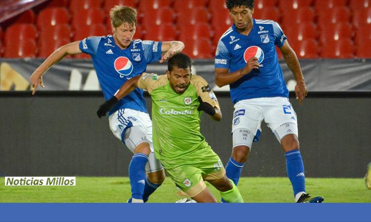 GOLES del partido Millonarios y Jaguares en Liga BetPlay 2021