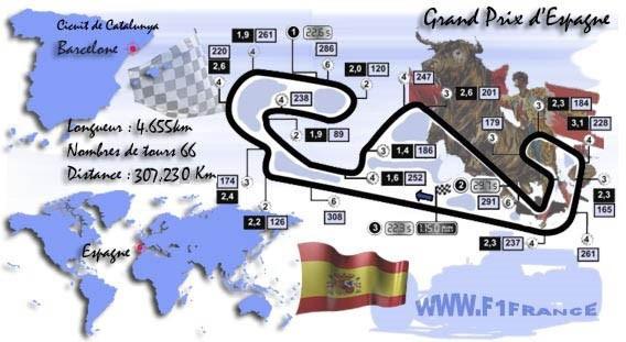F1 GP d'Espagne 2019 (éssais libres -1 -2 - 3 - Qualifications) Circuit-espagne-1