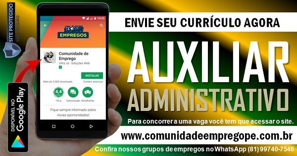 AUXILIAR ADMINISTRATIVO COM SALÁRIO DE R$ 2300,00 EXCLUSIVO PARA PESSOA COM DEFICIÊNCIA