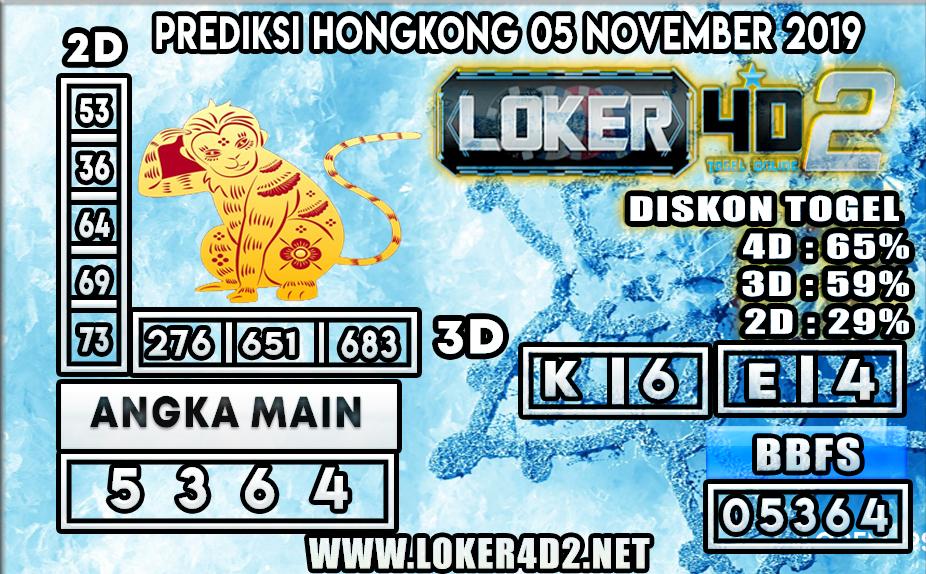 PREDIKSI TOGEL HONGKONG POOLS LOKER4D2 05 NOVEMBER 2019