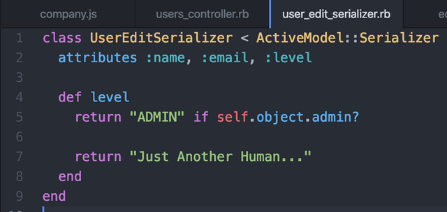 My User Serializer