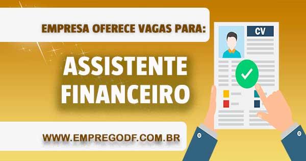 EMPREGO PARA ASSISTENTE FINANCEIRO