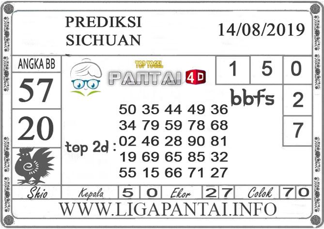 "PREDIKSI TOGEL ""SICHUAN"" PANTAI4D 14 AGUSTUS 2019"