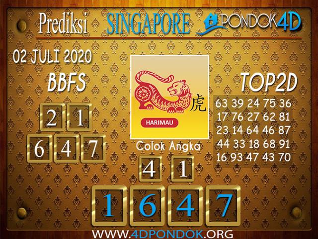 Prediksi Togel SINGAPORE PONDOK4D 02 JULI 2020